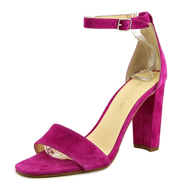Ivanka Trump Emalyn Women Open Toe Suede Purple Sandals