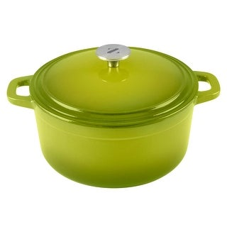 Zelancio Cookware 6 Quart Cast Iron Enamel Covered Dutch Oven with Self-Basting Lid