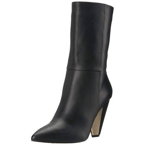 BCBGeneration Womens Vachetta Pointed Toe Mid-Calf Fashion Boots
