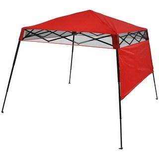 Sunnydaze Compact Quick-Up Slant Leg Instant Pop-Up Backpack Canopy Tent, 7.5 x 7.5 Foot