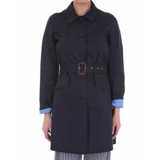 Michael Kors NEW Blue Two Tone Women's Size Small S Trench Coat