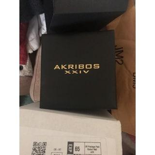 Akribos XXIV Women's Swiss Quartz Diamond Twist Chain Bracelet Watch