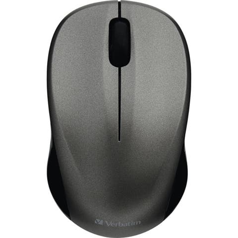Verbatim Silent Wireless Blue LED Mouse, 99769, Graphite