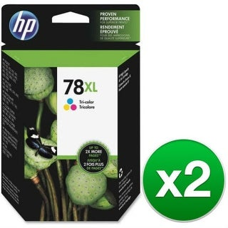 HP 78XL High Yield Tricolor Original Ink Cartridge C6578AN (2-Pack) HP 78XL Tri-Color Ink Cartridge - Cyan, Magenta, Yellow -