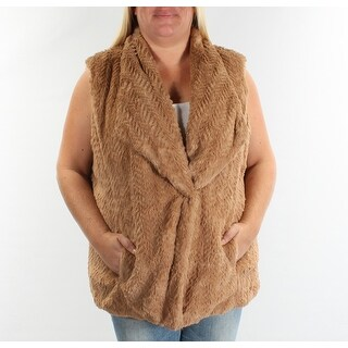 WILD FLOWER $119 Womens New 0997 Brown Textured Open Cardigan Sweater XL B+B