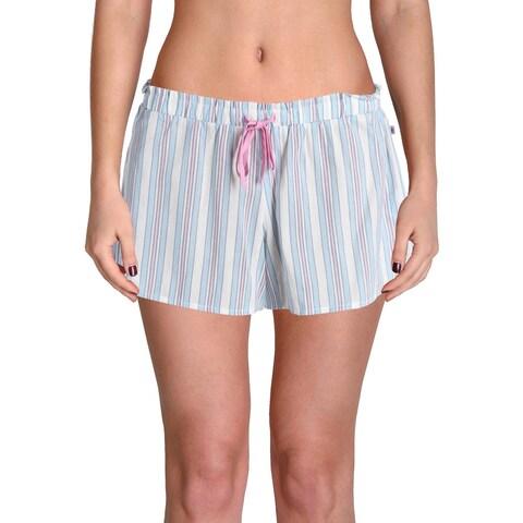 Jane & Bleecker Womens Pajama Shorts Striped Lounge - S