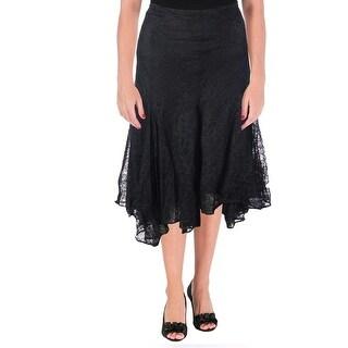 Lauren Ralph Lauren Womens A-Line Skirt Lace Pleated