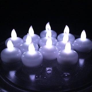 AGPtek Lot 12 LED Floating Tea Waterproof Wedding Party Floral Decoration Candle White