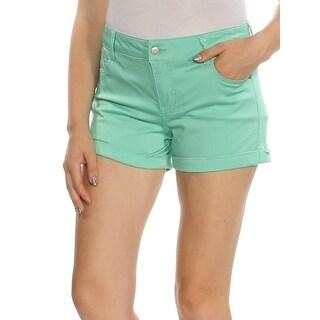 Womens Green Short Juniors Size 11