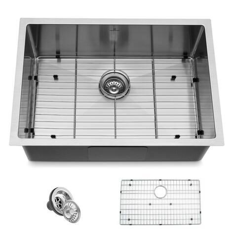 """Handmade 27"""" Undermount Single Bowl Stainless Steel Kitchen Sink - 27""""x19""""x10"""""""