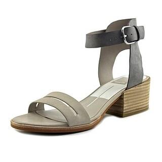 Dolce Vita Rae Women Open-Toe Leather Gray Slingback Sandal