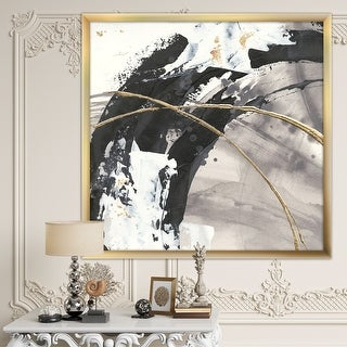 Link to Designart 'Glam Painted Arcs I' Transitional Framed Art Print Similar Items in Art Prints