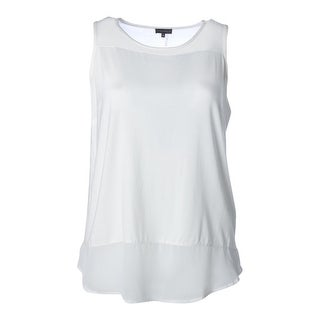 Vince Camuto Womens Plus Sleeveless Solid Pullover Top - 1X