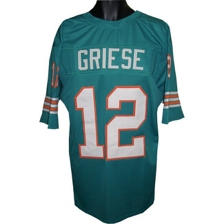 the best attitude 99b19 48d9c Bob Griese Teal TB Custom Stitched Pro Style Football Jersey XL