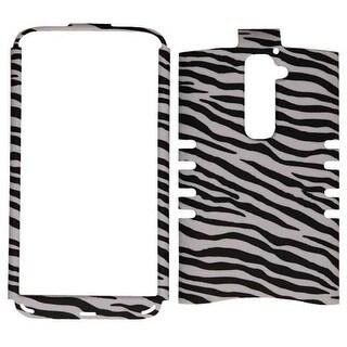Rocker Series Snap-On Case for LG G2 (Leather Finish Zebra Print)