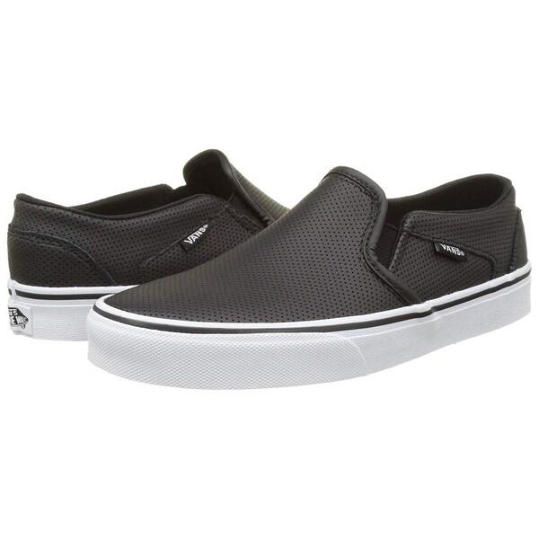 Shop Vans Women's Wm Asher Low Top Sneakers, White ((Perf