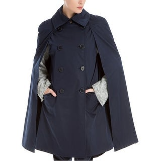 Max Studio London Womens Trench Cape Jacket