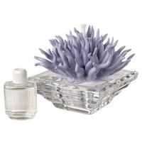 Debora Carlucci Italian Crystal Aroma Diffuser with Porcelain Coral Top. Aria Mediterranea Scent