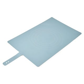 Joseph Joseph Roll-Up Non-Slip Silicone Pastry Mat with Measurements, Lockable Strap, 23-inch x 15-inch , Blue