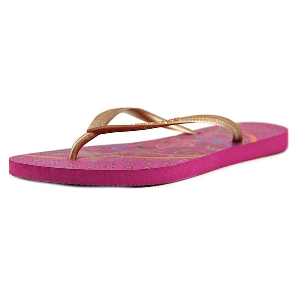 Havaianas Slim Thematic Women Open Toe Synthetic Purple Flip Flop Sandal