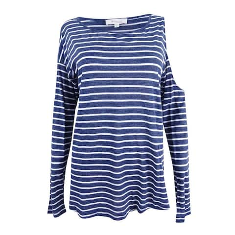Two by Vince Camuto Women's Single Cold Shoulder Stripe Top