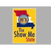 Missouri - The Show Me State State Map/Flag Posters Matte Poster 24x16