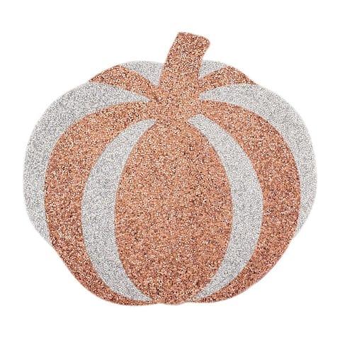 Sparkles Home Luminous Rhinestone Pumpkin Placemat