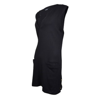 Lauren Ralph Lauren Women's Pocket Knit Tunic Swim Cover (M, Black) - M