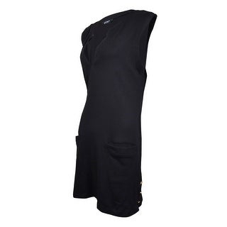 Lauren Ralph Lauren Women's Pocket Knit Tunic Swim Cover (XL, Black) - XL