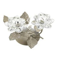 Crystal Flower Centerpiece Candle Holder