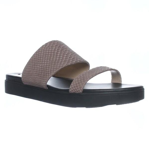 Via Spiga Carita Slide Flat Sandals, Dark Taupe