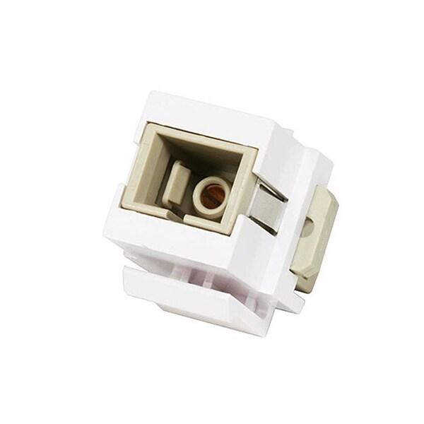 Monoprice Modular SC Fiber Optic Keystone Jack Coupler - White