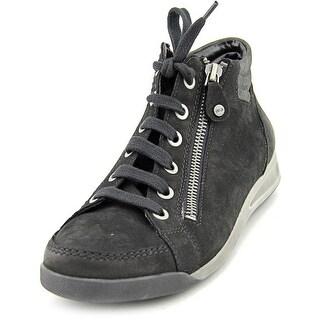 Ara Rylee Women Round Toe Leather Black Sneakers