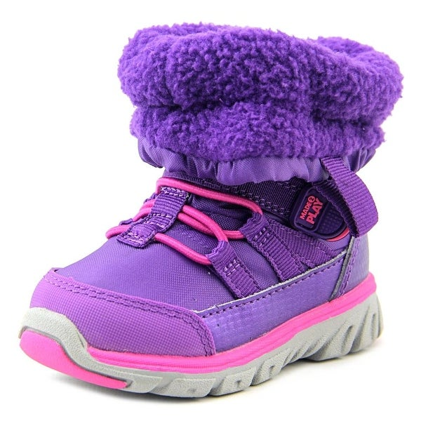 Stride Rite M2P Sneaker Boot Toddler Round Toe Canvas Purple Winter Boot