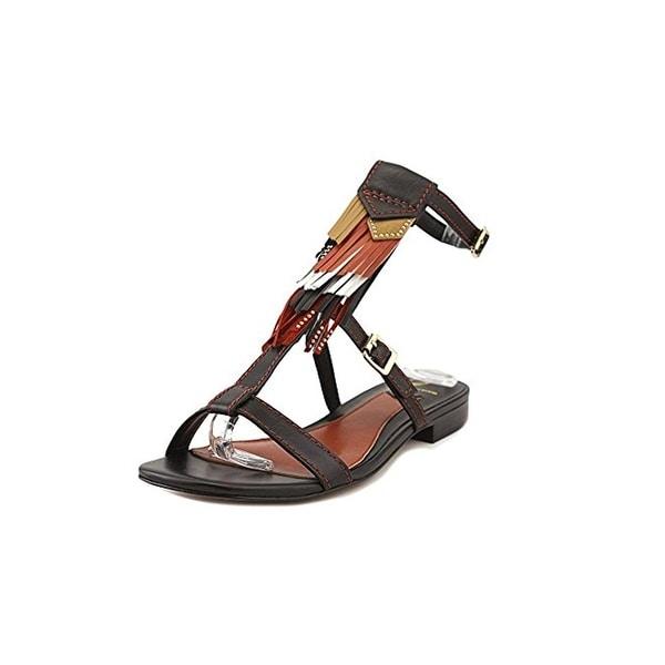 B Brian Atwood Womens Megan T-Strap Sandals Fringe Boho