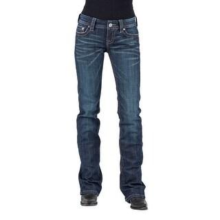 Stetson Western Jeans Womens Bootcut Slim Denim 11-054-0818-0392 BU