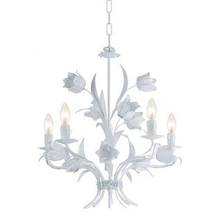 Link to Southport 5 Light Wet White Chandelier - 20'' W x 22'' H Similar Items in Chandeliers