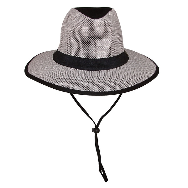 02f17daaf71b1 Guy Harvey Men  x27 s Cotton Safari Hat with Mesh Crown and Matching Chin