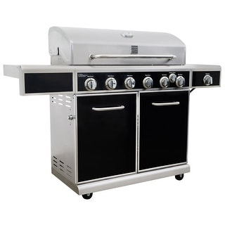 Kenmore 6 Burner with Side Burner Grill with Silk Screen Control Panel