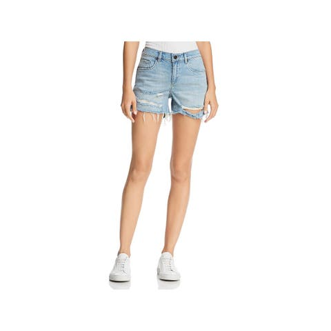 Blank NYC Womens The Fulton Cutoff Shorts Denim Light Wash