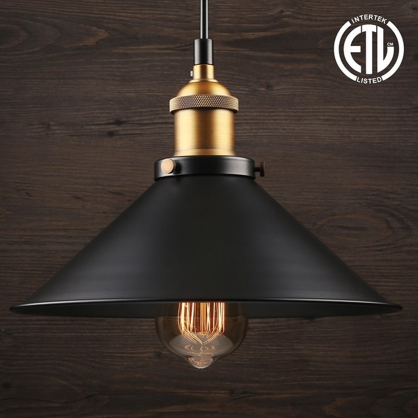 1 Light Industrial Hanging Pendant Light,Retro Vintage Style,E26 Base,ETL listed