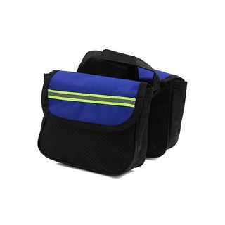 Father  s Day Gift l Bicycle Double Side Rack Rear Seat Tail Carrier Pannier Bag Storage Black Blue