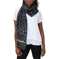 Roberto Cavalli C3S07D120 230 Gray Animal Print Shawl - 55-63