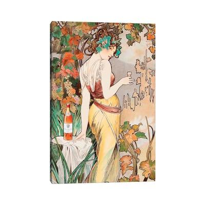 "iCanvas ""Cognac"" by Alphonse Mucha Canvas Print"