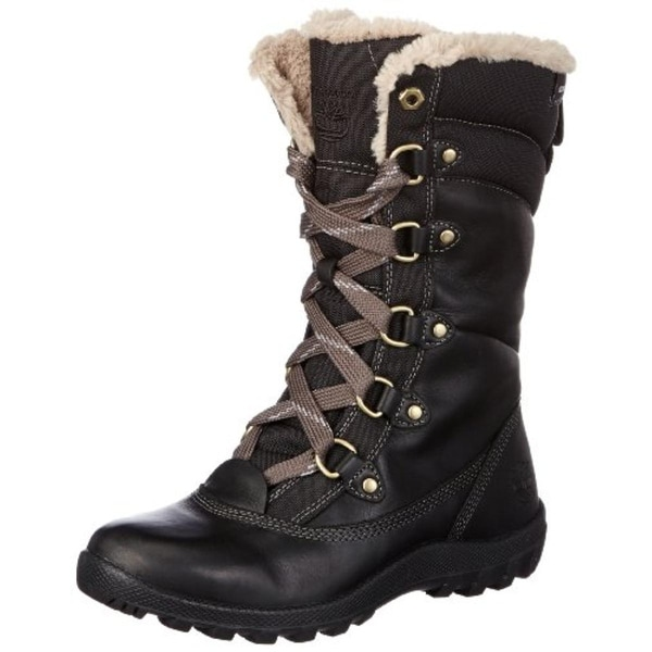 Timberland Womens Mount Hope Winter Boots Leather Faux Fur