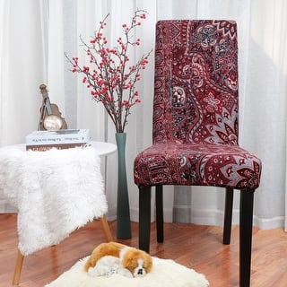 Stretch Washable Short Dining Chair Protector Cover