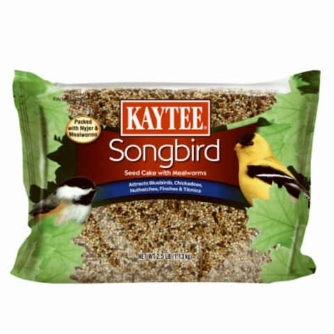 Kaytee® 100528432 Songbird Seed Cake with Mealworms, 2.5 Lbs