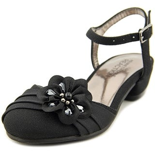 Kenneth Cole Reaction Belle Flower Toddler Open Toe Synthetic Black Sandals