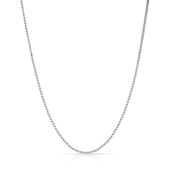 "Mcs Jewelry Inc 14 KARAT WHITE GOLD BOX CHAIN (.55mm) (18"")"