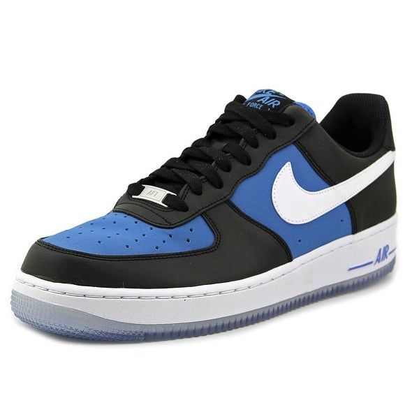 Nike Air Force 1 Men  Round Toe Leather Black Sneakers